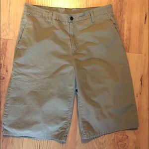 Dickies Flat Front Khaki Shorts 34